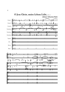 O Jesu Christ, meins Lebens Licht, BWV 118: Full score by Johann Sebastian Bach