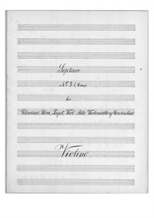 Septet for Winds and Strings No.3 in C Major, Op.30: Parts by Theodor Bernhard Sick