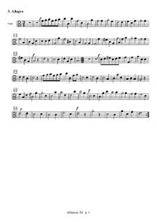 Concerto for Strings in C Major: Movement III (Allegro) – viola part by Tomaso Albinoni