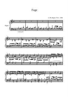 Fugue for Organ in A Minor: Fugue for Organ in A Minor by Carl Philipp Emanuel Bach