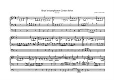 Heut' triumphieret Gottes Sohn, BWV 630: For organ by Johann Sebastian Bach