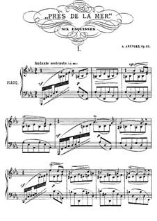 Près de la Mer, Op.52: Complete set by Anton Arensky