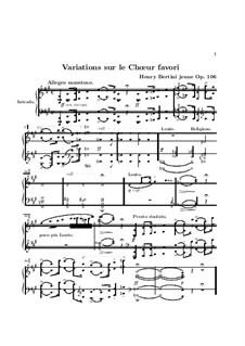 Variations on Choir 'Dell'aura tua Profetica' from 'Norma' by Bellini, Op.106: Variations on Choir 'Dell'aura tua Profetica' from 'Norma' by Bellini by Henri Jérôme Bertini