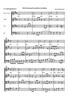 Mit Fried und Freud, ich fahr dahin, BuxWV 76: Partitur by Dietrich Buxtehude