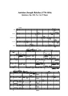 Woodwind Quintet in F Major, Op.100 No.1: Movement I by Anton Reicha