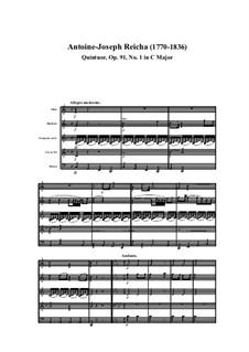 Woodwind Quintet in C Major, Op.91 No.1: Movement I by Anton Reicha