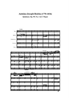 Woodwind Quintet in C Major, Op.99 No.1: Movement I by Anton Reicha