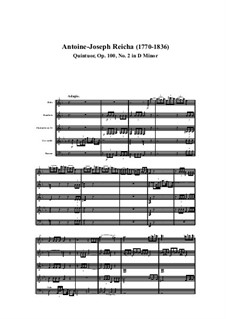 Woodwind Quintet in D Minor, Op.100 No.2: Movement I by Anton Reicha