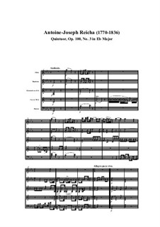 Woodwind Quintet in E Flat Major, Op.100 No.3: Movement I by Anton Reicha