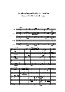 Woodwind Quintet in D Major, Op.91 No.3: Movement I by Anton Reicha