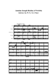 Woodwind Quintet in A Major, Op.99 No.3: Movement I by Anton Reicha