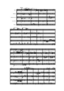 Woodwind Quintet in E Flat Major, Op.100 No.3: Movement II by Anton Reicha