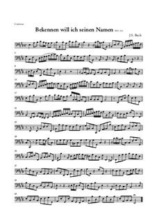 Bekennen Will Ich Seinen Namen, BWV 200: Basso continuo part by Johann Sebastian Bach