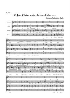 O Jesu Christ, meins Lebens Licht, BWV 118: Choir part by Johann Sebastian Bach