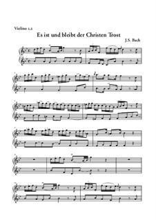 Sie werden euch in den Bann tun, BWV 44: Arie 'Es ist und bleibt, der Christen Tros' – Violinstimme I, II by Johann Sebastian Bach