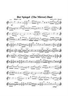 The Mirror. Duet for Violins: The Mirror. Duet for Violins by Wolfgang Amadeus Mozart