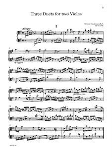 Duets for Two Violas, BR B 7-9 F 60-62: Duets for Two Violas by Wilhelm Friedemann Bach
