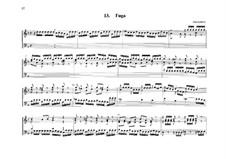 Fugue for Organ No.13 in G Minor: Fugue for Organ No.13 in G Minor by Johann Heinrich Buttstett