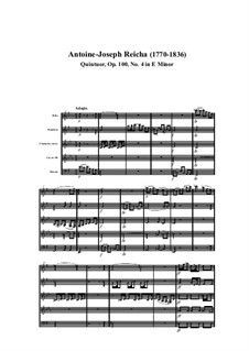 Woodwind Quintet in E Minor, Op.100 No.4: Movement I by Anton Reicha