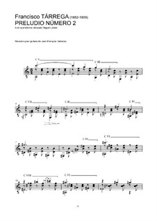 Preludes: Prelude No.2 by Francisco Tárrega