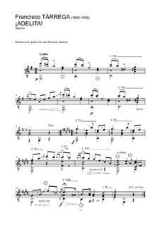 Adelita: For guitar (high quality sheet music) by Francisco Tárrega