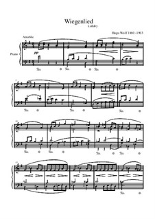 Cradle Song (Berceuse): For piano by Hugo Wolf