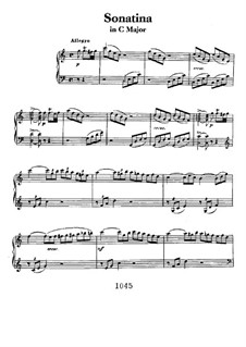 Sonatina in C Major: For piano by Ludwig van Beethoven