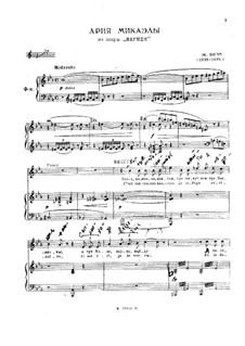 Je dis, que rien ne m'épouvante: Piano-vocal score by Georges Bizet