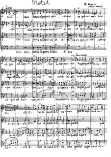 Christus factus: For mixed choir by Felice Anerio