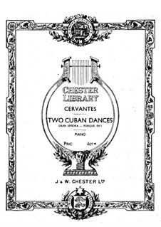 Two Cuban Dances: For piano by Ignacio Cervantes