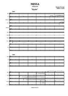 Missa: Full score by Mikhail Gogolin