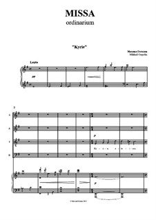Missa: Piano-vocal score by Mikhail Gogolin
