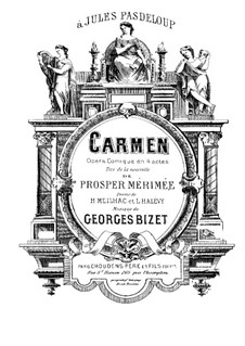 Complete Opera: Piano score by Georges Bizet