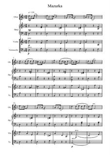 No.10 Mazurka: For oboe, violin, cello and harp by Pyotr Tchaikovsky