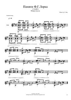 In memory of F.G. Lorca. Micropieces: No.2 Tango by Сергей Лим