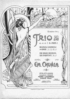 Piano Trio in G Minor: Piano Trio in G Minor by Emanuel Chvála