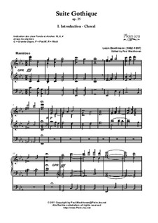 No.1 Introduction-Choral: For organ (edited by Paul Weckhoven) by Léon Boëllmann