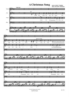 Christmas Song: For choir (SATB) and piano by David W Solomons