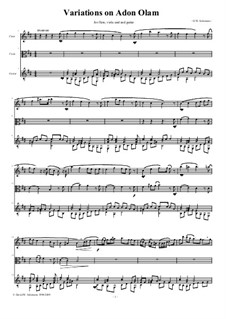 Variations on Adon Olam: For flute, viola and guitar by David W Solomons