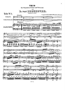 Trio for Violin, Cello and Piano No.9, WoO 39: Full score by Ludwig van Beethoven