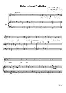 Habirandosan No Haiku – a Japanese style haiku song: For alto and piano by David W Solomons