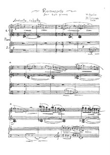 Romancero: For two pianos four hands by Mikhail Gogolin