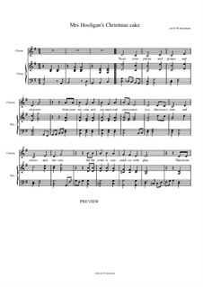 Mrs Hooligan's Christmas Cake: For solo, choir and piano by folklore
