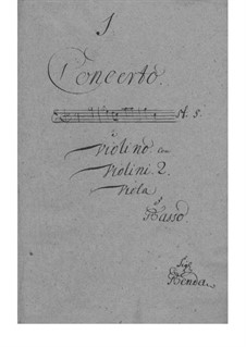 Concerto for Violin and Orchestra in C Major, L II:1: Parts by Franz Benda