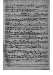 Quartet for Strings and Basso Continuo in A Major, TWV 43:A6: Quartet for Strings and Basso Continuo in A Major by Georg Philipp Telemann