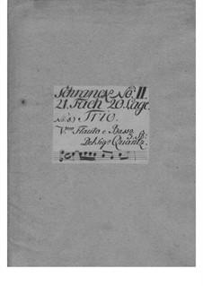 Trio Sonata for Violin, Flute and Basso Continuo in G Major, QV 2:Anh.26: Full score by Johann Joachim Quantz