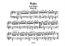 Waltz for Piano in D Major, WoO 85: For a single performer by Ludwig van Beethoven