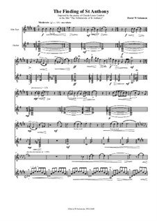 The finding of St Anthony for alto saxophone and guitar: The finding of St Anthony for alto saxophone and guitar by David W Solomons