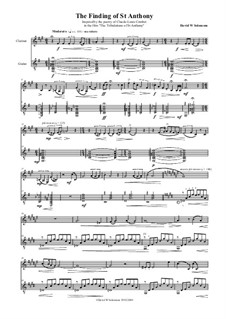 The finding of St Anthony for alto saxophone and guitar: For clarinet and guitar by David W Solomons