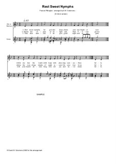 Rest Sweet Nymphs: For alto (or baritone) and guitar by Francis Pilkington
